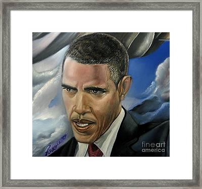 Barack Framed Print by Reggie Duffie