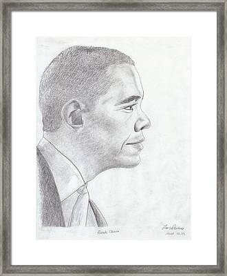 Barak Obama Framed Print