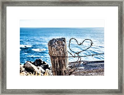 Barb Wire Heart Framed Print