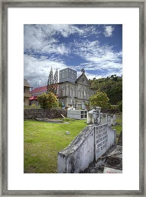 Barbados Cemetary Framed Print by Jon Glaser