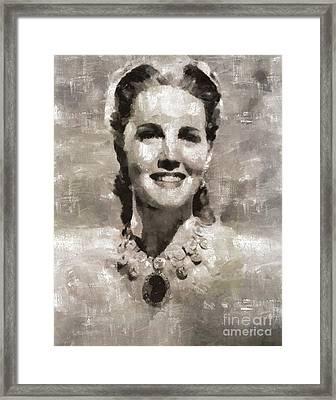 Barbara Britton, Actress Framed Print by Mary Bassett