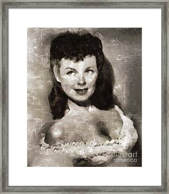 Barbara Hale, Actress Framed Print by Mary Bassett