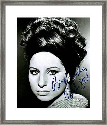 Barbara Streisand  Framed Print by Pd
