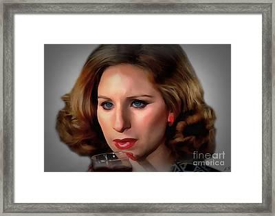Barbara Streisand Framed Print