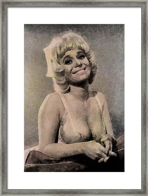 Barbara Windsor, Carry On Actress Framed Print by John Springfield