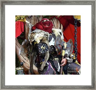 Barbarian Renaissance Festival Framed Print by Bob Christopher