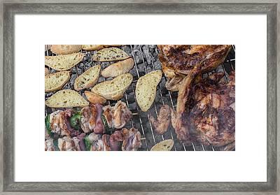 Barbecue Framed Print by Germano Poli