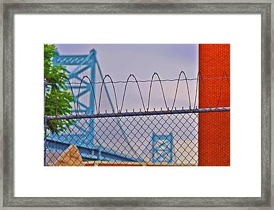 Barbed Wire Bridge Framed Print by Bill Cannon