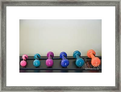 Barbells Framed Print by Andersen Ross
