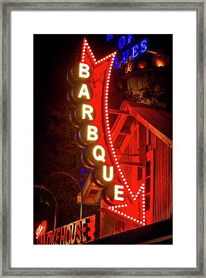 Framed Print featuring the photograph Barbeque Smokehouse by Mark Andrew Thomas