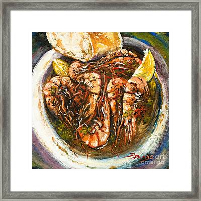 Barbequed Shrimp Framed Print