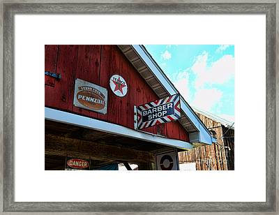 Barber - Old Barber Shop Sign Framed Print by Paul Ward