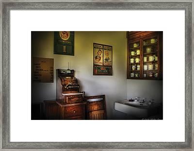 Barber - The Cash Register  Framed Print
