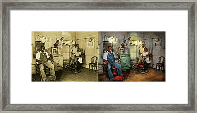 Barber - Family Owned 1942 - Side By Side Framed Print