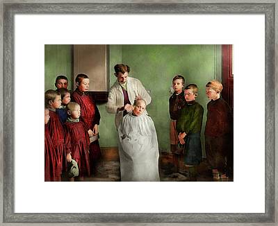 Barber - Haircut Day 1918 Framed Print