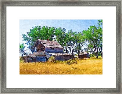 Framed Print featuring the photograph Barber Homestead by Susan Kinney