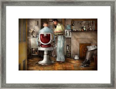 Barber - Our Family Barber 1935 Framed Print
