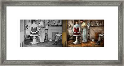 Barber - Our Family Barber 1935 - Side By Side Framed Print