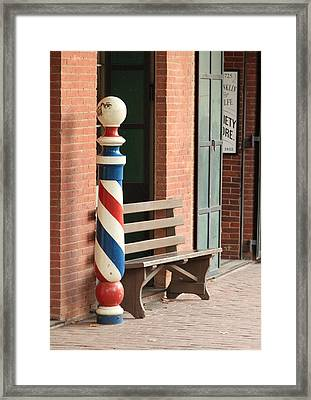 Barber Pole Columbia Ca Framed Print by Troy Montemayor