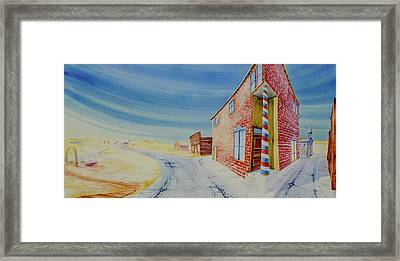 Framed Print featuring the painting Barber Pole by Scott Kirby