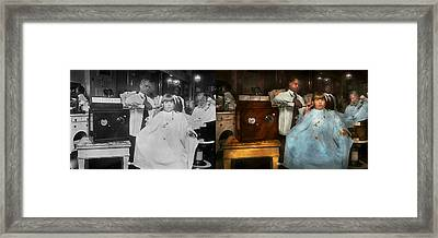 Barber - Portable Music Player 1921 - Side By Side Framed Print