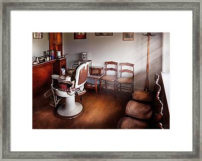 Barber - Ready For An Audience Framed Print by Mike Savad