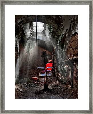 Barber Shop Framed Print by Evelina Kremsdorf