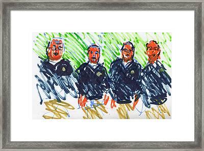 Barber Shop Quartet Framed Print by Candace Lovely