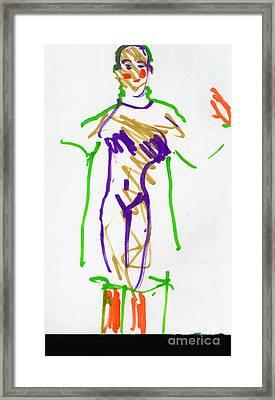 Barber Shop Quartet Clown Framed Print by Candace Lovely