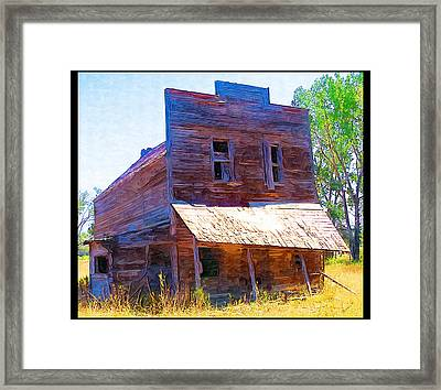 Framed Print featuring the photograph Barber Store by Susan Kinney