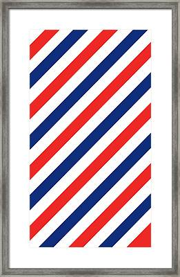 Barber Stripes Framed Print