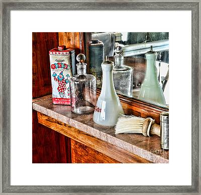 Barber - Talc And Toilet Water Framed Print by Paul Ward