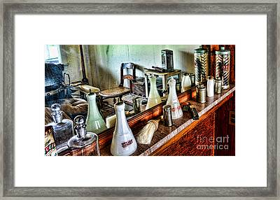 Barber - The Barbers Counter Framed Print by Paul Ward