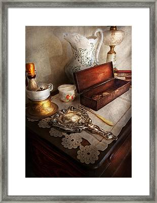 Barber - The Morning Ritual Framed Print