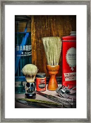 Barber - Vintage Barbering Tools Framed Print by Paul Ward