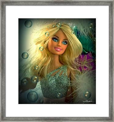 Barbie Bubbles In Hdr Framed Print by Melissa Wyatt