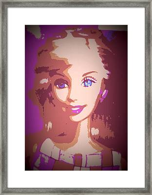 Barbie Hip To Be Square Framed Print