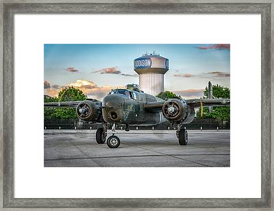 Barbie IIi On The Hot Ramp Framed Print by David Franks
