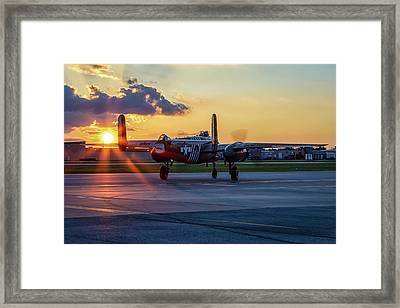 Barbie IIi Sunset Framed Print by David Franks