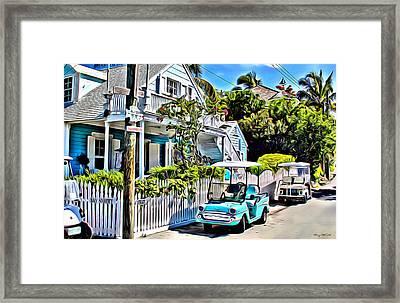Harbour Island House Framed Print