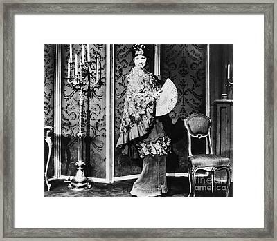 Barbra Streisand (1942- ) Framed Print by Granger