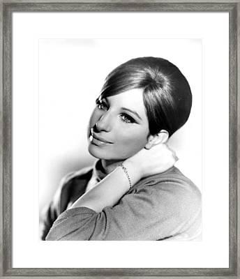 Barbra Streisand, Portrait From Funny Framed Print