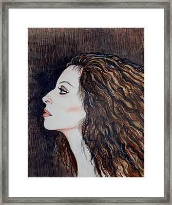 Barbra Streisand Framed Print