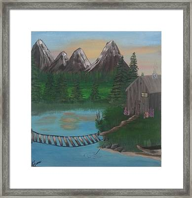 Barbs Place Framed Print by Lori Lafevers