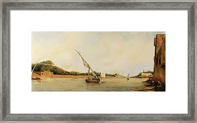barca sul Nilo Framed Print