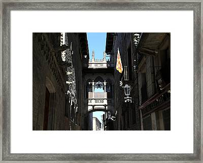 Framed Print featuring the photograph Barcelona 1 by Andrew Fare