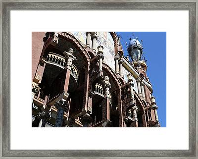 Framed Print featuring the photograph Barcelona 4 by Andrew Fare