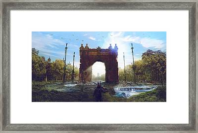 Barcelona Aftermath Arc De Triomf Framed Print by Guillem H Pongiluppi
