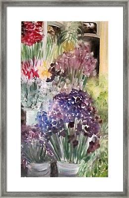 Barcelona Flower Mart Framed Print