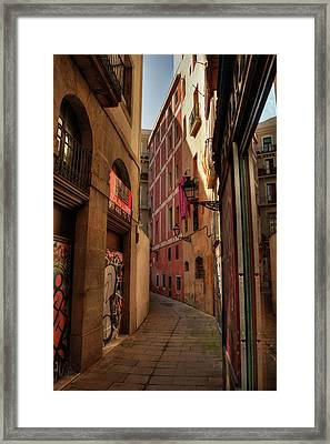 Framed Print featuring the photograph Barcelona - Gothic Quarter 003 by Lance Vaughn